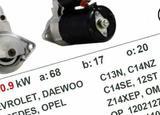 Стартер на Chevrolet Rezzo/Daewoo Tacuma/Opel